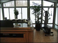 A beautiful sunroom for Anne-Marie's family.
